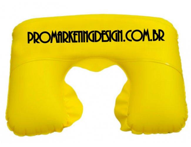 Almofada de pescoço inflável