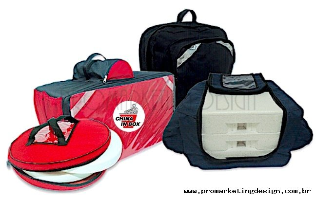 Bolsas mochilas térmicas para transporte de pizzas e refeições
