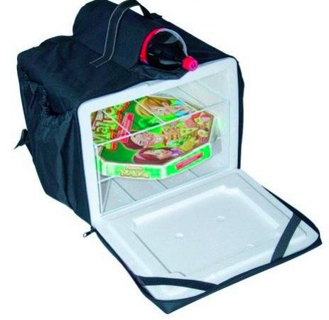 Bolsas e mochilas  térmicas para transporte de pizzas, marmitex e refeições